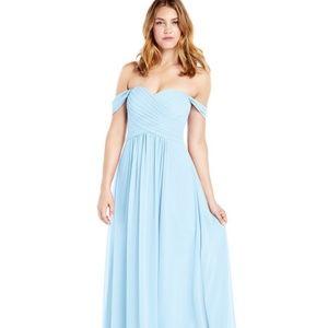 Azazie Corin bridesmaid dress in sky blue